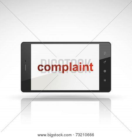Complaint Word On Mobile Phone