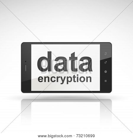 Data Encryption Words On Mobile Phone