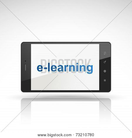 E-learning Word On Mobile Phone