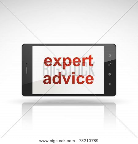 Expert Advice Words On Mobile Phone