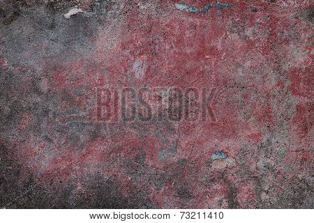 Old Plastered Surface Burgundy And Gray