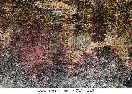 Old Plastered Surface Of A Stone Wall