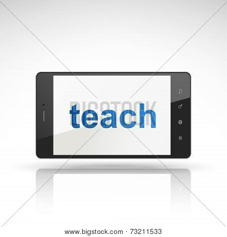 Teach Word On Mobile Phone