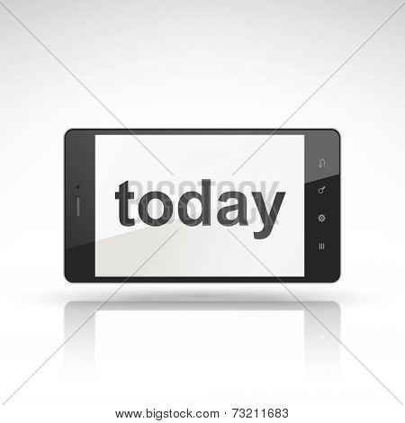 Today Word On Mobile Phone