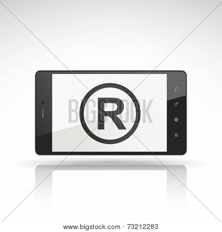 The Registered Trademark Symbol On Mobile Phone