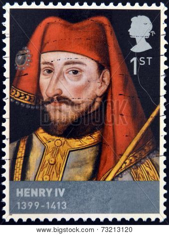 UNITED KINGDOM - CIRCA 2008: A stamp printed in Great Britain shows Henry IV circa 2008