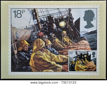 UNITED KINGDOM - CIRCA 1981: A stamp printed in Great Britain celebrating the Fishing Industry