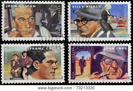 UNITED STATES OF AMERICA - CIRCA 2012: stamps printed in USA dedicated to the Great Film Directors