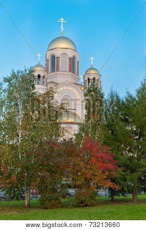 Spas-na-krovi Cathedral Yekaterinburg. Russia