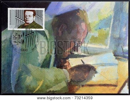 GERMANY - CIRCA 1991: A stamp printed in Germany shows Max Reger Composer circa 1991