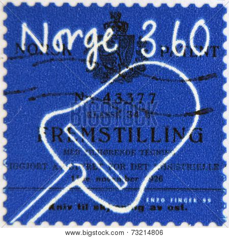 NORWAY - CIRCA 1999: A stamp printed in Norway shows Cheese slicer circa 1999