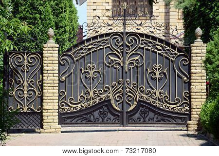 Forged Gates And Gate.