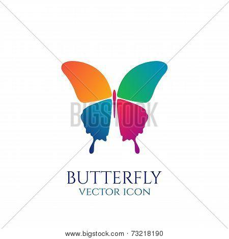 Butterfly conceptual icon. Logo