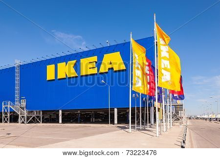 Samara, Russia - April 19, 2014: Ikea Samara Store. Ikea Is The World's Largest Furniture Retailer A