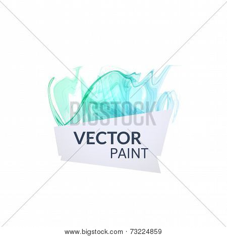 Abstract digital watercolor ink, virtual technology splash paint