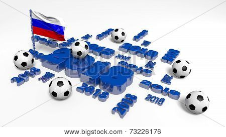 2018 Russian Flag And Footballs