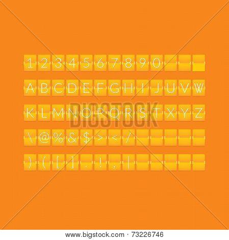 Flat orange paper countdown timer