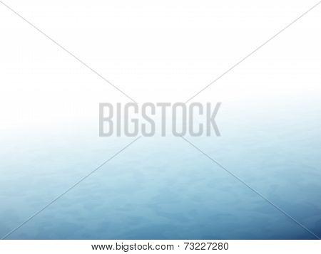 The horizon with fog, blue sea or ocean
