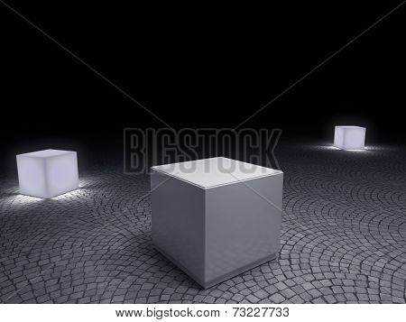 White Pedestals To Place Product