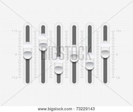 Vector Sound Mixer Console Panel