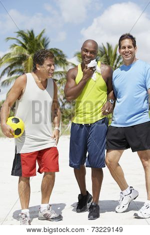 Multi-ethnic men in athletic gear