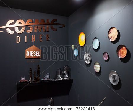 Diesel Flatware On Display At Homi, Home International Show In Milan, Italy