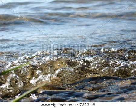 Close-up of gurgling water