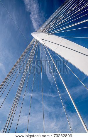 center column of a cable stayed bridge