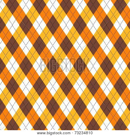 Autumn Argyle Pattern