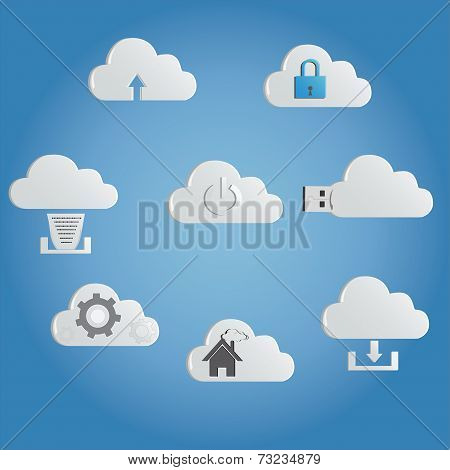 atest technology cloud computing networking icons