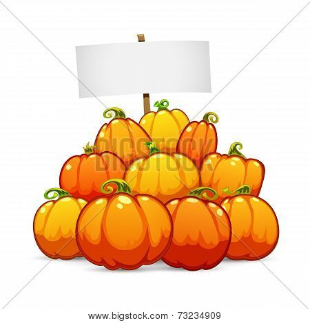 Heap of Halloween Pumpkins