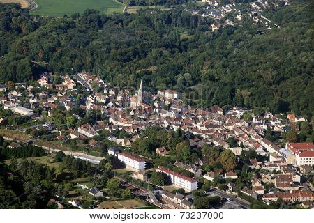 French Small Town Aerial View