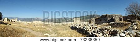 Panorama castle Bechin in Milas, Turkey