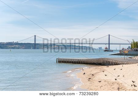 Suspension Bridge In Lisbon