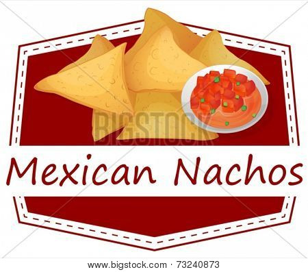 Illustration of mexican nachos