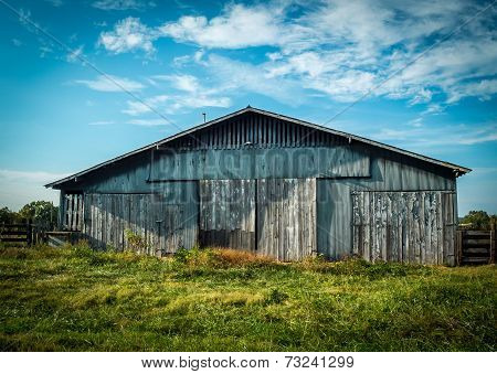 Blue Barn in Summer