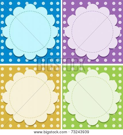 Illustration of the empty background templates