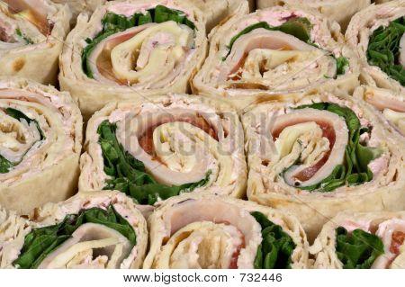 Turkey Warp Sandwiches