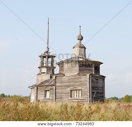 Old Abandoned Wooden Chapel