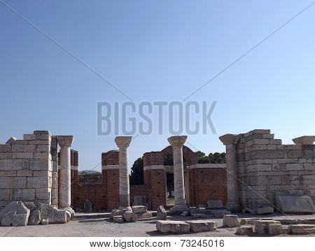 Ruins Church of St. John in Selcuk Turkey