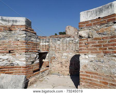 Ruins Church St. John in Selcuk Turkey