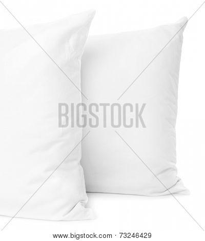 White pillows isolated on white