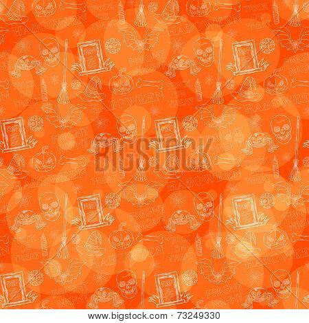 Orange Halloween Pattern