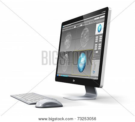 Professional desktop computer workstation