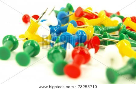 coloured thumbtacks