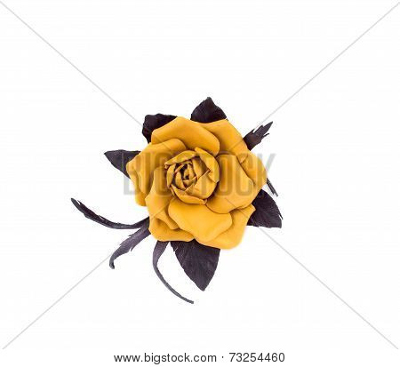 Artificial flower of silk.