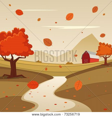 Autumn Farm Landscape