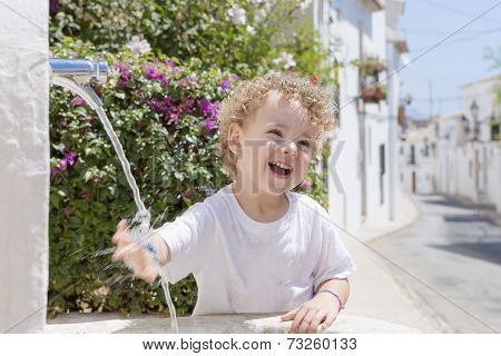 Child And Fountain