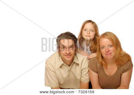 Family posing for portrait