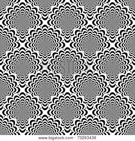 Design Seamless Monochrome Spiral Movement Pattern